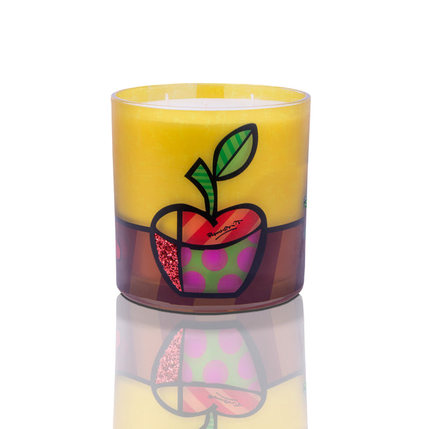Romero Britto Candles - 55oz - Apple