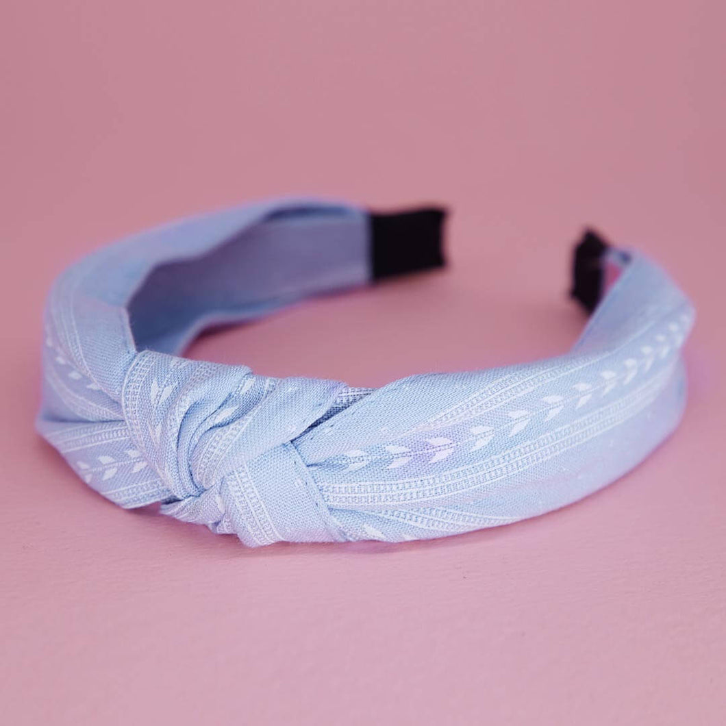 In A Knot Headband in Baby Blue | Headbands | Pollyanna Brand