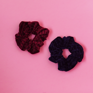 All Day Everyday Scrunchies in Burgundy & Midnight | Scrunchie | Pollyanna Brand