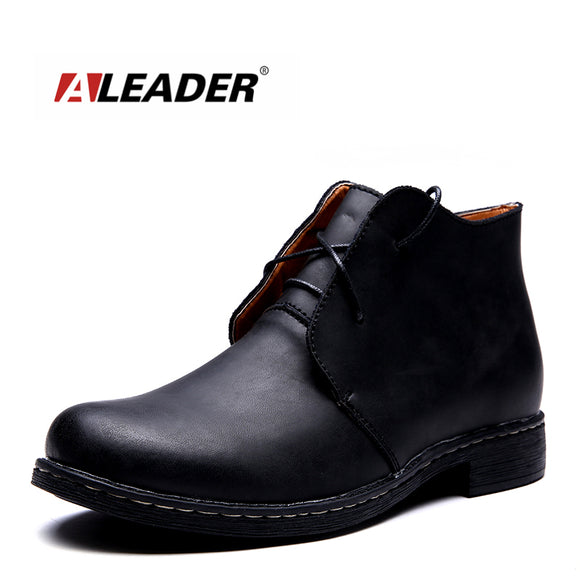e1310366ef2 Waterproof Autumn Men Fashion Boots Casual High Quality Genuine Leather Men  Ankle Boots Brand Men Shoes