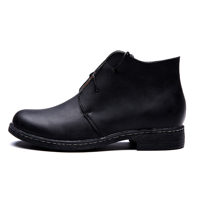 a001a12b615 ... Waterproof Autumn Men Fashion Boots Casual High Quality Genuine Leather  Men Ankle Boots Brand Men Shoes
