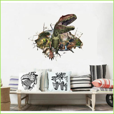 3D Dinosaur Roar Wall Decal - Decals