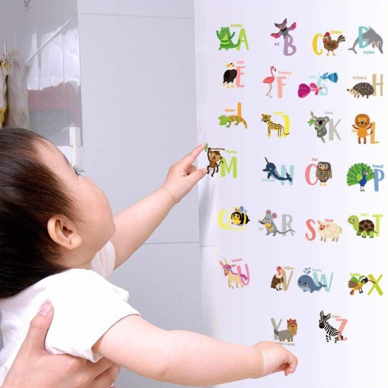 Alphabet Animals Wall Decal Stickers on WallStickers.ie