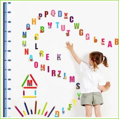 Alphabet Height Chart Wall Sticker on WallStickers.ie