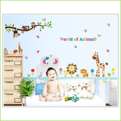 Animal World Wall Art Decal on WallStickers.ie