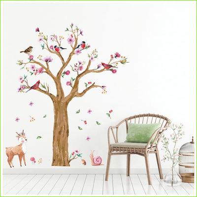 Autumn Bird Tree Sticker - Sticker
