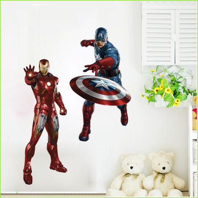 Avengers Iron Man Captain America Wall Stickers on WallStickers.ie