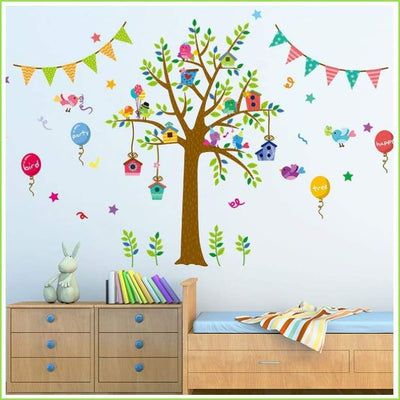 Bunting Tree Wall Stickers on WallStickers.ie