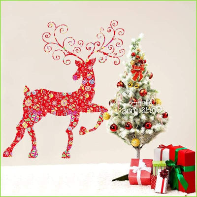 Christmas Reindeer Wall Stickers - Sticker