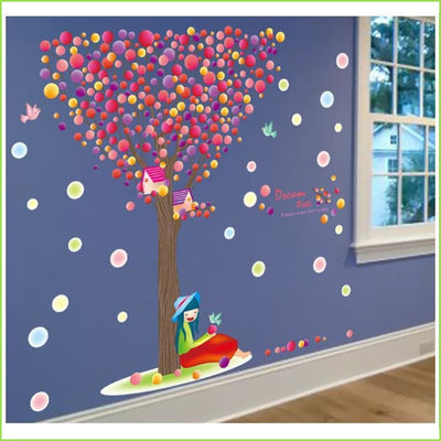 Colour Balloon Tree Wall Sticker on WallStickers.ie