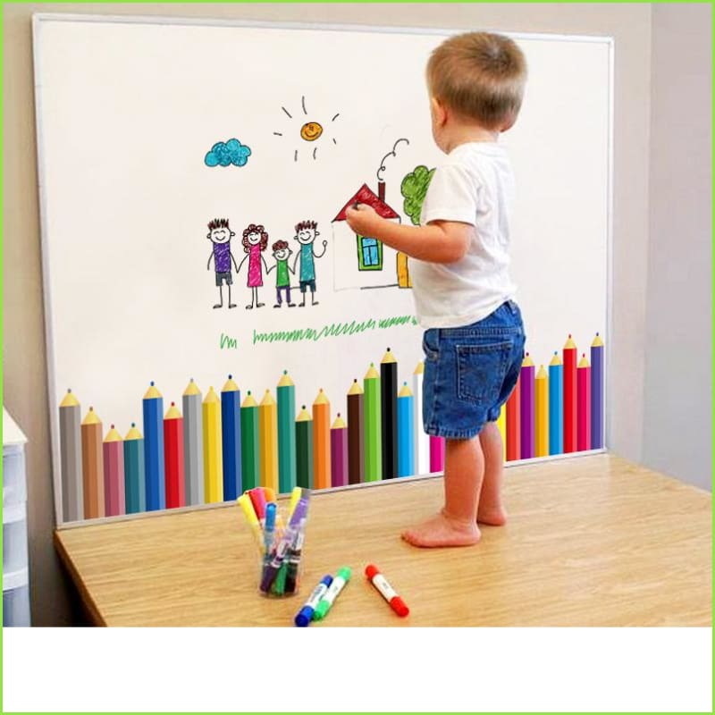 Colour Pencil Skirting Border Decal Set Wallstickersforkids.ie