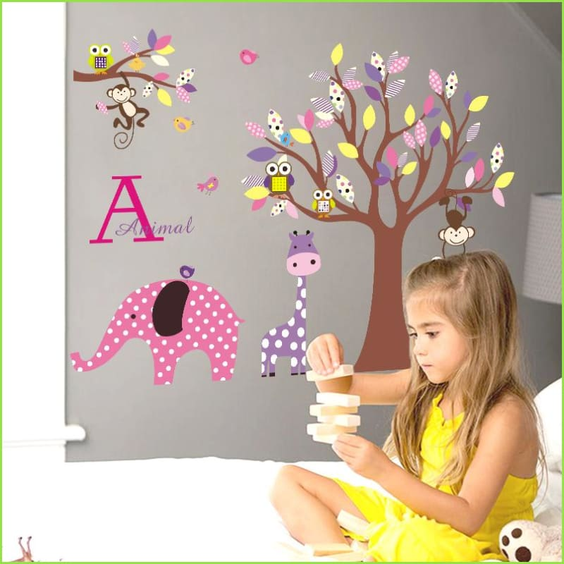 Colourful Elephant Jungle Decals on WallStickers.ie
