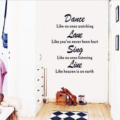 Dance Quote Wall Art Decal on WallStickers.ie