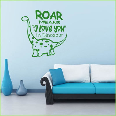 DinoRoar Wall Sticker on WallStickers.ie
