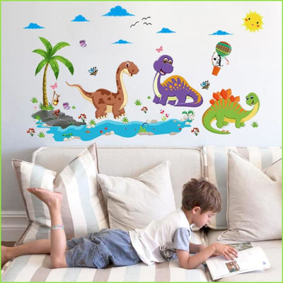 Dinosaur Tree Wall Sticker - Sticker