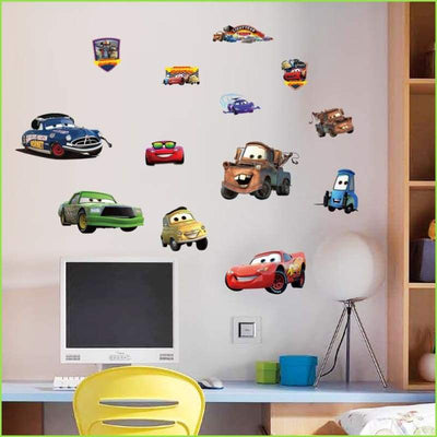WSFK Disney Cars Wall Stickers for Kids