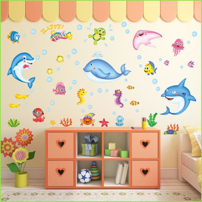 Dolphin Bathroom Wall Decals on WallStickers.ie
