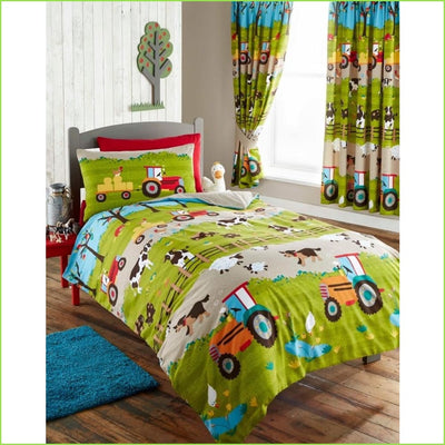 Farm Yard Tractor SINGLE Duvet Set on WallStickers.ie