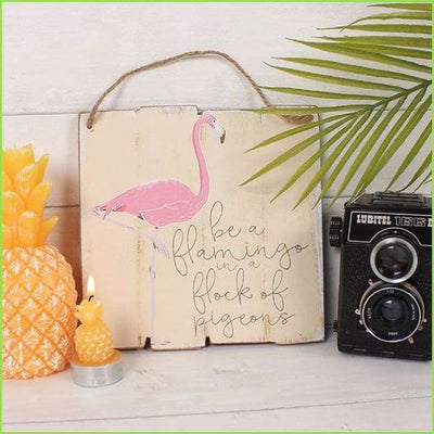 Flamingo Wall Plaque on WallStickers.ie