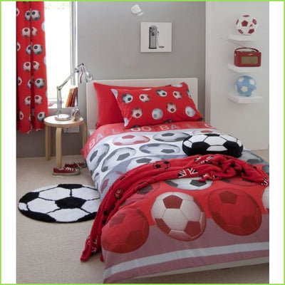 Football Red DOUBLE Duvet Set on WallStickers.ie
