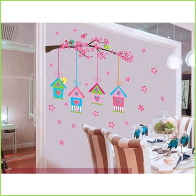Four Bird House Wall Sticker on WallStickers.ie