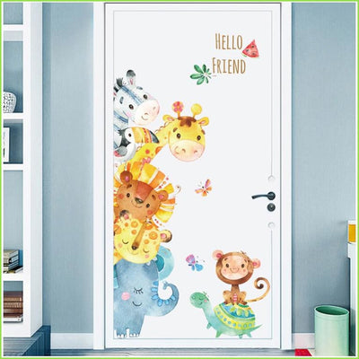 Fun Colour Animals Stickers - Decals