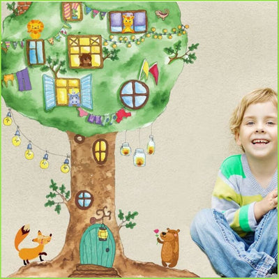 Fun Tree House Wall Stickers on WallStickers.ie