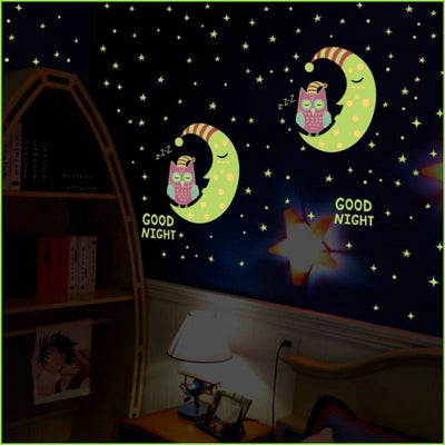 Goodnight Glow Owls Decals on WallStickers.ie