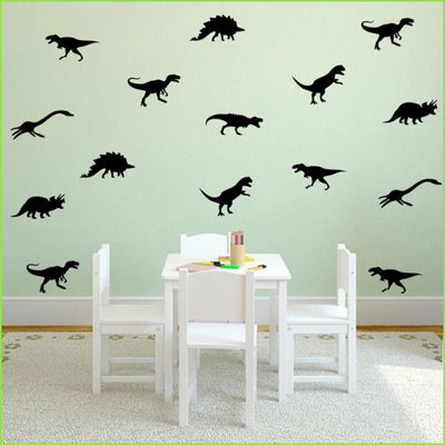 GREEN Dinosaur Wall Sticker Set on WallStickers.ie