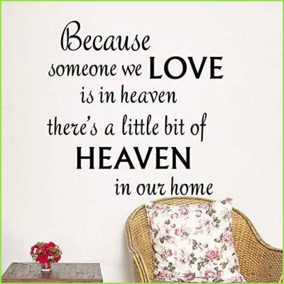 Heaven Wall Quote - Stickers
