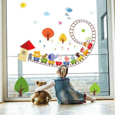 Kids Animal Train Wall Decals on WallStickers.ie