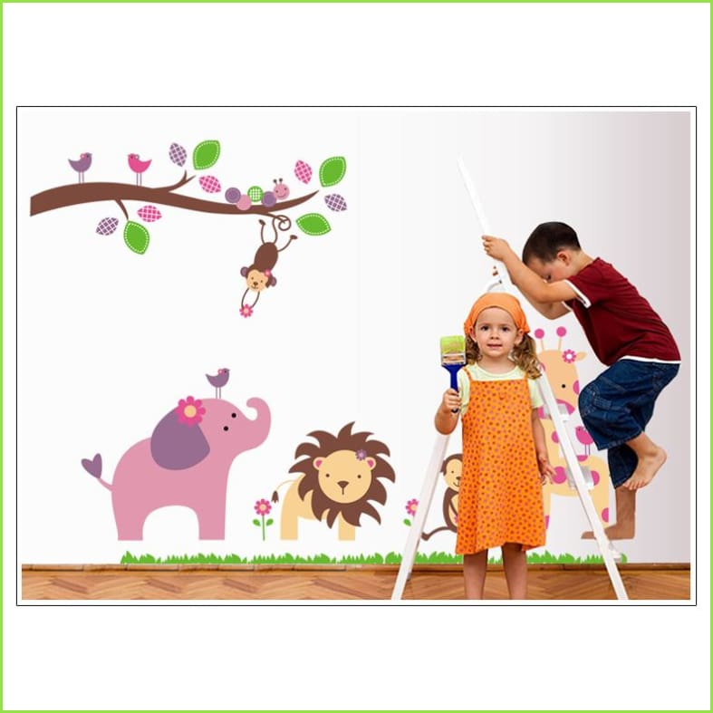 Large Jungle Wall Sticker on WallStickers.ie