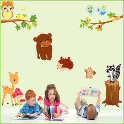 Large Woodland Animal Decals on WallStickers.ie