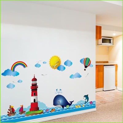 Lighthouse Sea Wall Stickers - Stickers