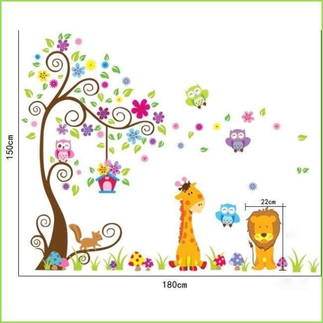 Lion Jungle Wall Decal on WallStickers.ie