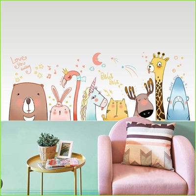 Love Animals Wall Stickers - Stickers
