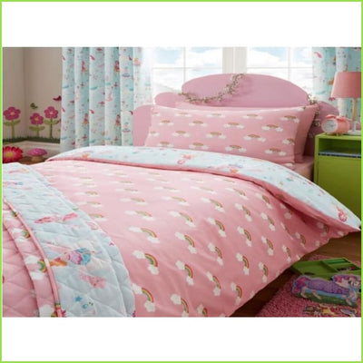 Magical Unicorn Rainbow SINGLE Bedspread Throw on WallStickers.ie