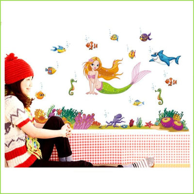 Mermaid Wall Art Stickers on WallStickers.ie