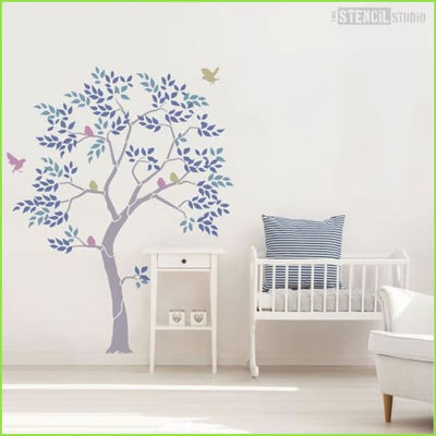 Nursery Tree Wall Stencil on WallStickers.ie