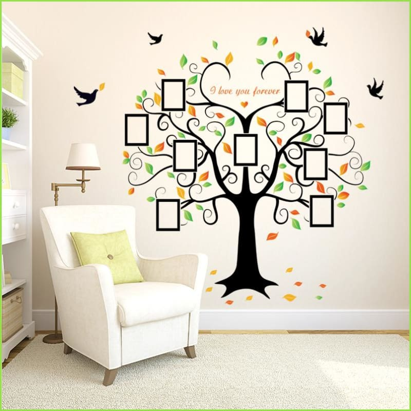 Picture Frame Family Tree Decal Wallstickersforkidsie