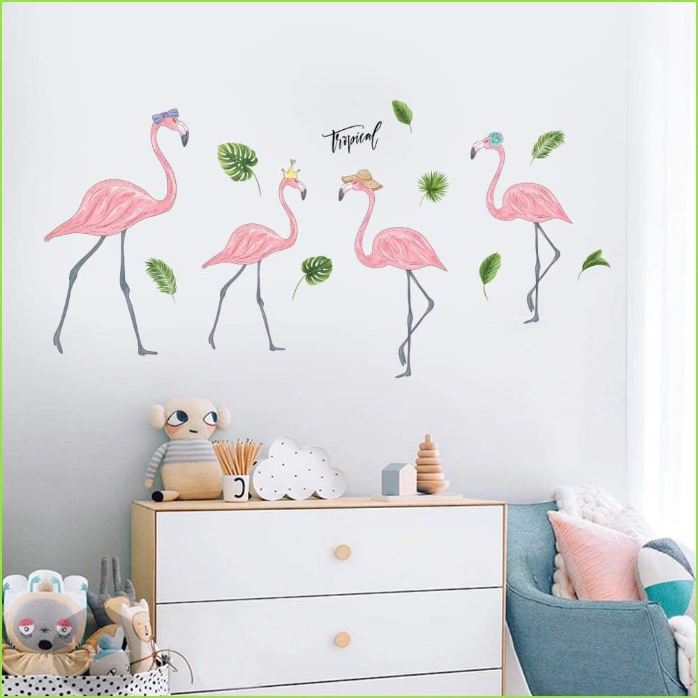 Pink Flamingo Wall Decals - Decals