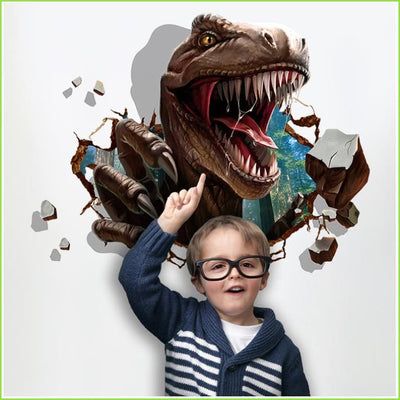 Roaring Dinosaur Wall Sticker - Stickers