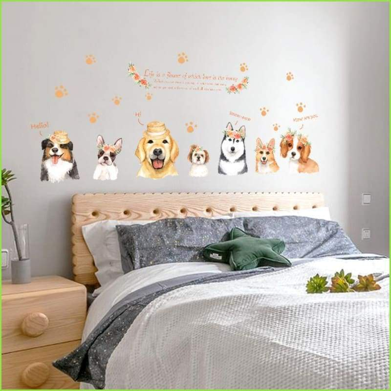 Smiling Dogs Decals - Stickers