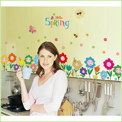 Spring Flowers Skirting Border Decals on WallStickers.ie