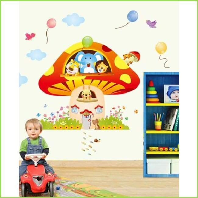 Toadstool House Wall Art on WallStickers.ie