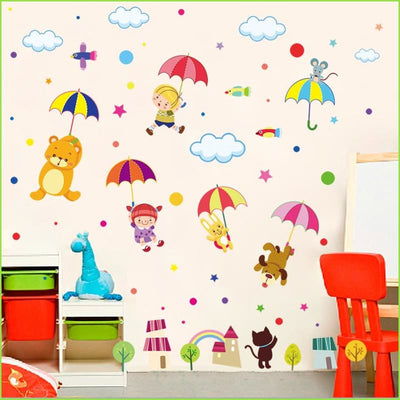 Umbrella Animals Wall Decals on WallStickers.ie