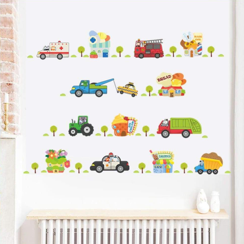 Vehicles Wall Stickers Collection Wallstickersforkids.ie