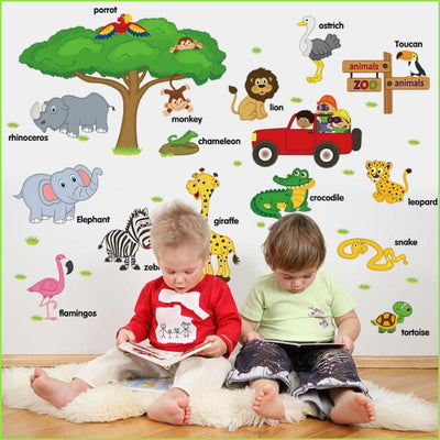 Zoo Animals Wall Stickers on WallStickers.ie