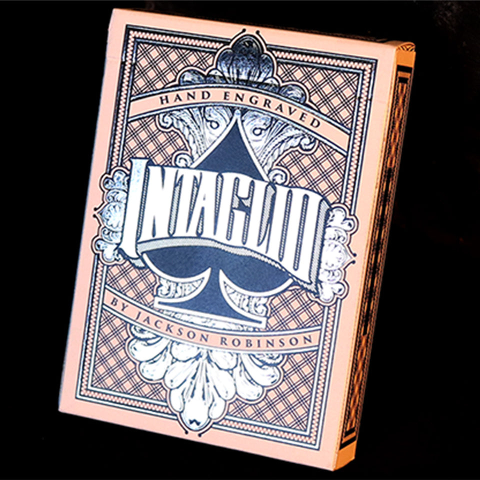 Intaglio Blue Playing Cards