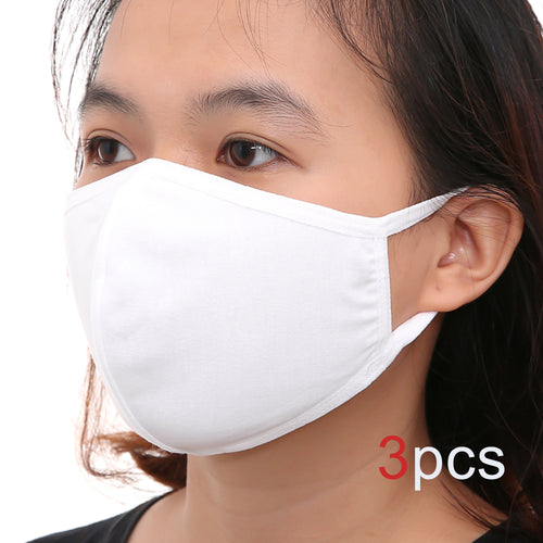 Kid Size Cotton Face mask (White)
